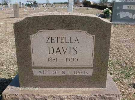 DAVIS, ZETELLA - White County, Arkansas | ZETELLA DAVIS - Arkansas Gravestone Photos