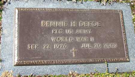 DEFOE (VETERAN WWII), BENNIE H - White County, Arkansas | BENNIE H DEFOE (VETERAN WWII) - Arkansas Gravestone Photos