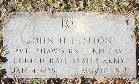 DENTON (VETERAN CSA), JOHN H - White County, Arkansas | JOHN H DENTON (VETERAN CSA) - Arkansas Gravestone Photos