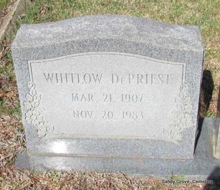 DEPRIEST, WHITLOW - White County, Arkansas | WHITLOW DEPRIEST - Arkansas Gravestone Photos