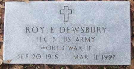 DEWSBURY  (VETERAN WWII), ROY E. - White County, Arkansas   ROY E. DEWSBURY  (VETERAN WWII) - Arkansas Gravestone Photos
