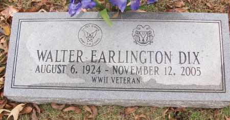 DIX  (VETERAN WWII), WALTER EARLINGTON - White County, Arkansas | WALTER EARLINGTON DIX  (VETERAN WWII) - Arkansas Gravestone Photos