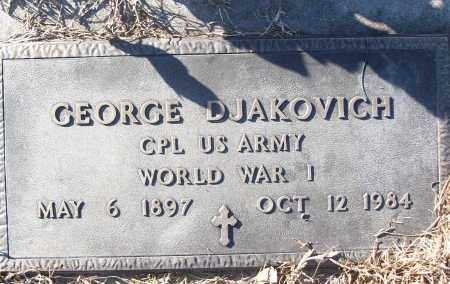 DJAKOVICH (VETERAN WWI), GEORGE - White County, Arkansas   GEORGE DJAKOVICH (VETERAN WWI) - Arkansas Gravestone Photos
