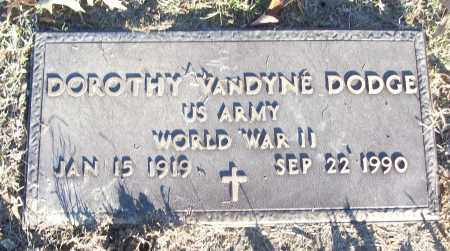 VANDYNE DODGE (VETERAN WWII), DOROTHY - White County, Arkansas   DOROTHY VANDYNE DODGE (VETERAN WWII) - Arkansas Gravestone Photos