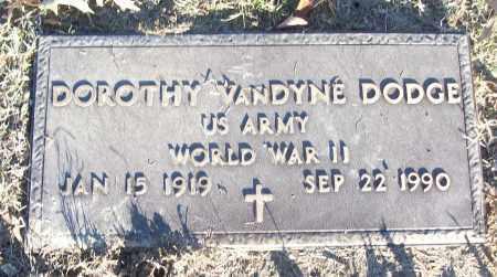 DODGE (VETERAN WWII), DOROTHY - White County, Arkansas | DOROTHY DODGE (VETERAN WWII) - Arkansas Gravestone Photos