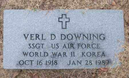 DOWNING (VETERAN 2 WARS), VERL D - White County, Arkansas | VERL D DOWNING (VETERAN 2 WARS) - Arkansas Gravestone Photos