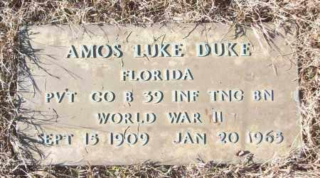 DUKE (VETERAN WWII), AMOS LUKE - White County, Arkansas   AMOS LUKE DUKE (VETERAN WWII) - Arkansas Gravestone Photos