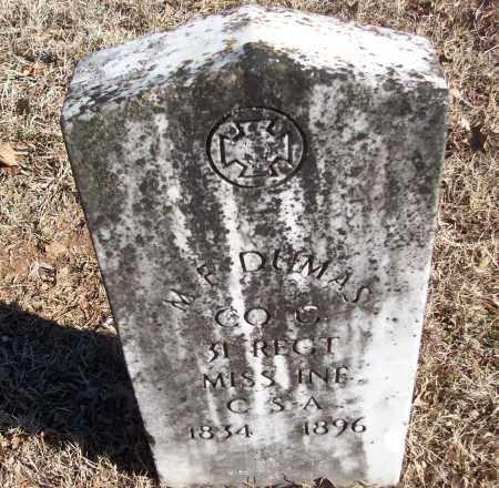 DUMAS (VETERAN CSA), M F - White County, Arkansas   M F DUMAS (VETERAN CSA) - Arkansas Gravestone Photos