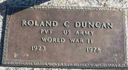 DUNCAN (VETERAN WWII), ROLAND C - White County, Arkansas | ROLAND C DUNCAN (VETERAN WWII) - Arkansas Gravestone Photos