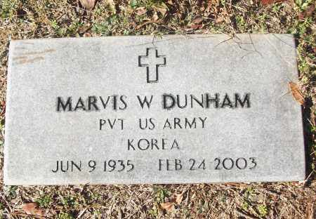 DUNHAM (VETERAN KOR), MARVIS W - White County, Arkansas | MARVIS W DUNHAM (VETERAN KOR) - Arkansas Gravestone Photos