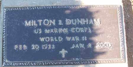 DUNHAM (VETERAN WWII), MILTON L - White County, Arkansas | MILTON L DUNHAM (VETERAN WWII) - Arkansas Gravestone Photos