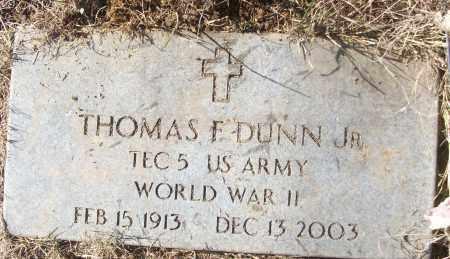 DUNN, JR (VETERAN WWII), THOMAS F - White County, Arkansas   THOMAS F DUNN, JR (VETERAN WWII) - Arkansas Gravestone Photos