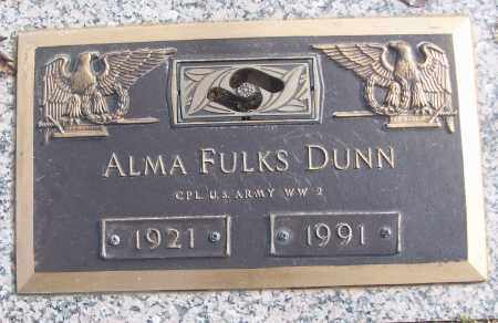 FILKS DUNN (VETERAN WWII), ALMA - White County, Arkansas | ALMA FILKS DUNN (VETERAN WWII) - Arkansas Gravestone Photos