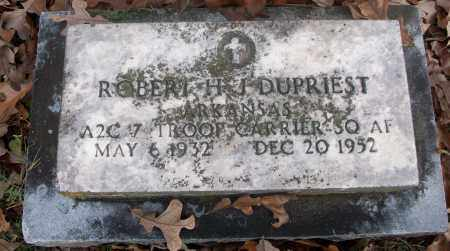 DUPRIEST  (VETERAN), ROBERT H. J. - White County, Arkansas | ROBERT H. J. DUPRIEST  (VETERAN) - Arkansas Gravestone Photos
