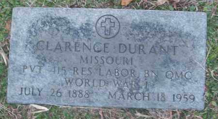 DURANT (VETERAN WWI), CLARENCE - White County, Arkansas | CLARENCE DURANT (VETERAN WWI) - Arkansas Gravestone Photos