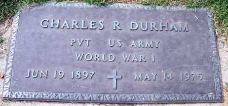 DURHAM (VETERAN WWI), CHARLES R - White County, Arkansas | CHARLES R DURHAM (VETERAN WWI) - Arkansas Gravestone Photos