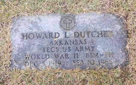 DUTCHER  (VETERAN WWII), HOWARD L - White County, Arkansas | HOWARD L DUTCHER  (VETERAN WWII) - Arkansas Gravestone Photos