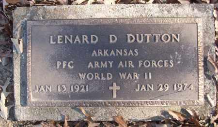 DUTTON (VETERAN WWII), LENARD D - White County, Arkansas   LENARD D DUTTON (VETERAN WWII) - Arkansas Gravestone Photos