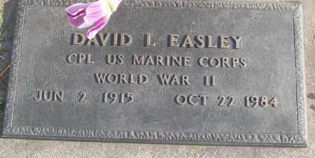 EASLEY (VETERAN WWII), DAVID L - White County, Arkansas | DAVID L EASLEY (VETERAN WWII) - Arkansas Gravestone Photos