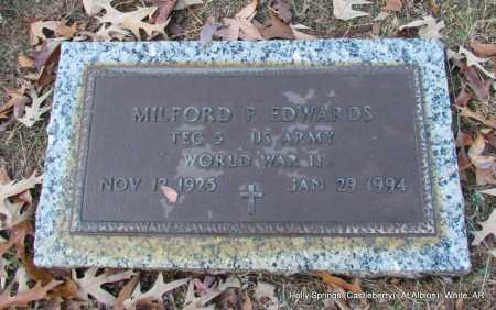 EDWARDS  (VETERAN WWII), MILFORD F - White County, Arkansas | MILFORD F EDWARDS  (VETERAN WWII) - Arkansas Gravestone Photos
