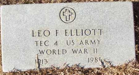 ELLIOTT (VETERAN WWII), LEO F - White County, Arkansas   LEO F ELLIOTT (VETERAN WWII) - Arkansas Gravestone Photos