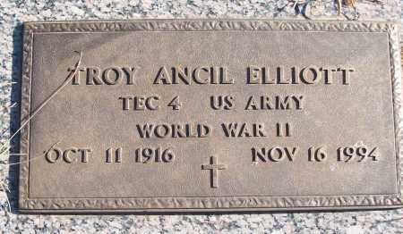 ELLIOTT (VETERAN WWII), TROY ANCIL - White County, Arkansas | TROY ANCIL ELLIOTT (VETERAN WWII) - Arkansas Gravestone Photos