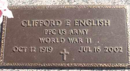 ENGLISH (VETERAN WWII), CLIFFORD E - White County, Arkansas | CLIFFORD E ENGLISH (VETERAN WWII) - Arkansas Gravestone Photos