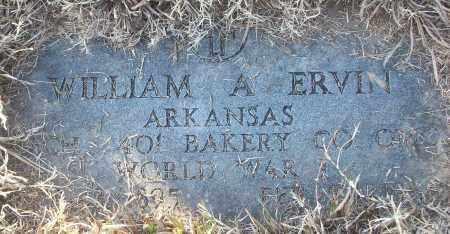 ERVIN (VETERAN WWI), WILLIAM A - White County, Arkansas   WILLIAM A ERVIN (VETERAN WWI) - Arkansas Gravestone Photos