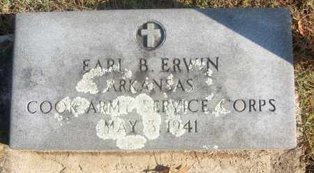ERWIN  (VETERAN), EARL B. - White County, Arkansas | EARL B. ERWIN  (VETERAN) - Arkansas Gravestone Photos