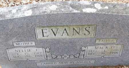 EVANS, NELLIE J. - White County, Arkansas | NELLIE J. EVANS - Arkansas Gravestone Photos