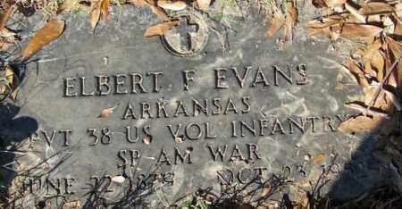 EVANS (VETERAN SAW), ELBERT F - White County, Arkansas | ELBERT F EVANS (VETERAN SAW) - Arkansas Gravestone Photos