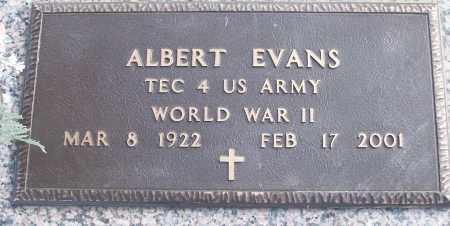 EVANS (VETERAN WWII), ALBERT - White County, Arkansas | ALBERT EVANS (VETERAN WWII) - Arkansas Gravestone Photos