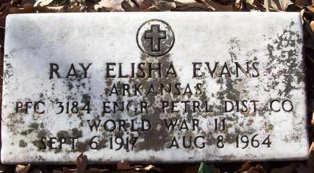 EVANS (VETERAN WWII), RAY ELISHA - White County, Arkansas   RAY ELISHA EVANS (VETERAN WWII) - Arkansas Gravestone Photos