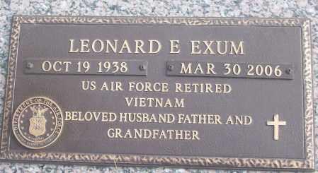EXUM (VETERAN VIET), LEONARD E - White County, Arkansas | LEONARD E EXUM (VETERAN VIET) - Arkansas Gravestone Photos