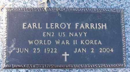 FARRISH (VETERAN 2 WARS), EARL LEROY - White County, Arkansas   EARL LEROY FARRISH (VETERAN 2 WARS) - Arkansas Gravestone Photos