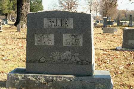 "KIRKPATRICK FAULK, MARTHA ""MATTIE"" - White County, Arkansas | MARTHA ""MATTIE"" KIRKPATRICK FAULK - Arkansas Gravestone Photos"