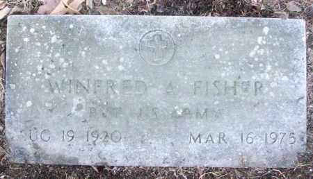 FISHER (VETERAN), WINFRED A - White County, Arkansas | WINFRED A FISHER (VETERAN) - Arkansas Gravestone Photos