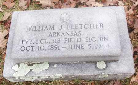FLETCHER  (VETERAN), WILLIAM J - White County, Arkansas | WILLIAM J FLETCHER  (VETERAN) - Arkansas Gravestone Photos