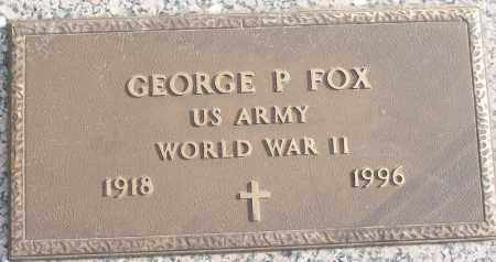 FOX (VETERAN WWII), GEORGE P - White County, Arkansas   GEORGE P FOX (VETERAN WWII) - Arkansas Gravestone Photos
