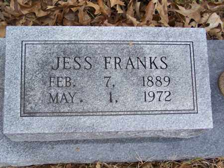 FRANKS, JESS - White County, Arkansas | JESS FRANKS - Arkansas Gravestone Photos