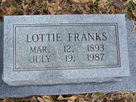 FRANKS, LOTTIE - White County, Arkansas   LOTTIE FRANKS - Arkansas Gravestone Photos
