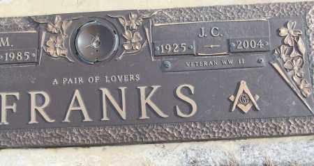 FRANKS (VETERAN WWII), J C - White County, Arkansas | J C FRANKS (VETERAN WWII) - Arkansas Gravestone Photos