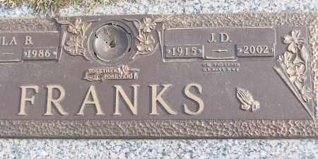 FRANKS (VETERAN WWII), J D - White County, Arkansas   J D FRANKS (VETERAN WWII) - Arkansas Gravestone Photos