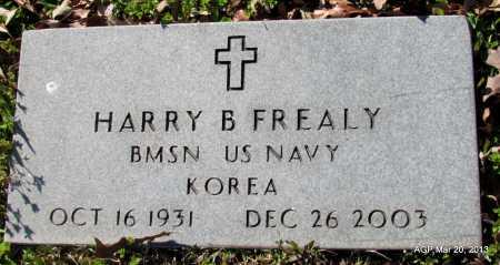 FREALY (VETERAN KOR), HARRY B - White County, Arkansas | HARRY B FREALY (VETERAN KOR) - Arkansas Gravestone Photos
