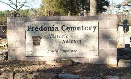 *FREDONIA CEMETERY SIGN,  - White County, Arkansas |  *FREDONIA CEMETERY SIGN - Arkansas Gravestone Photos