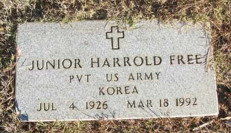 FREE (VETERAN KOR), JUNIOR HARROLD - White County, Arkansas | JUNIOR HARROLD FREE (VETERAN KOR) - Arkansas Gravestone Photos