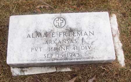 FREEMAN  (VETERAN), ALMA E - White County, Arkansas | ALMA E FREEMAN  (VETERAN) - Arkansas Gravestone Photos