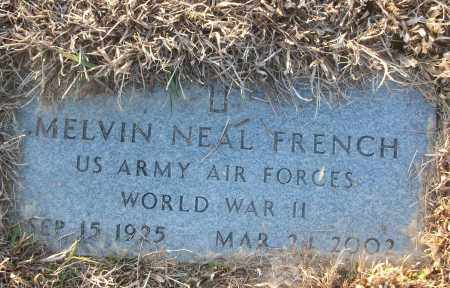 FRENCH (VETERAN WWII), MELVIN NEAL - White County, Arkansas   MELVIN NEAL FRENCH (VETERAN WWII) - Arkansas Gravestone Photos