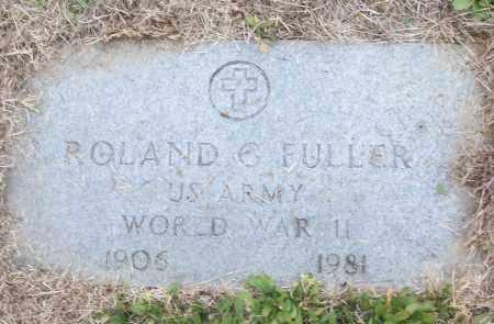 FULLER (VETERAN WWII), ROLAND G - White County, Arkansas   ROLAND G FULLER (VETERAN WWII) - Arkansas Gravestone Photos