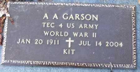 CARSON (VETERAN WWII), AUSTIN A (KIT) - White County, Arkansas   AUSTIN A (KIT) CARSON (VETERAN WWII) - Arkansas Gravestone Photos